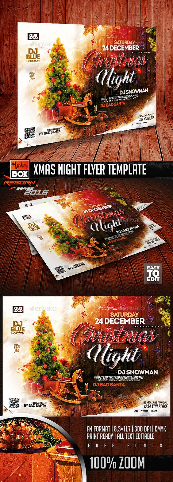 xmas night flyer template flyer template design and flyers xmas night flyer template