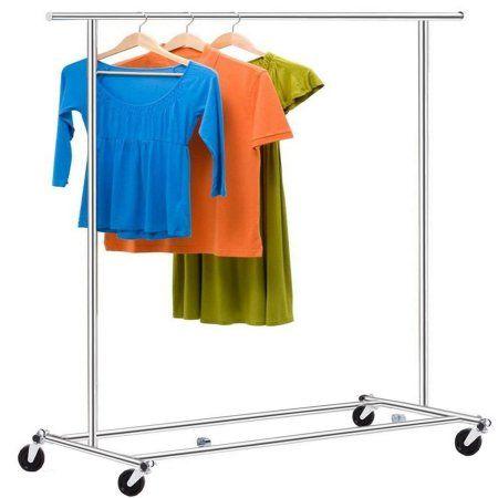 Homdox Heavy Duty Garment Rack Clothes Rolling Commercial Hanger Shelf Garment Racks Clothes Hanger Rack Clothing Rack