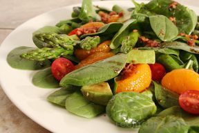 Asparagus, Tomato and Orange Salad - pick a sunny day and brighten your plate with this wonderful salad.