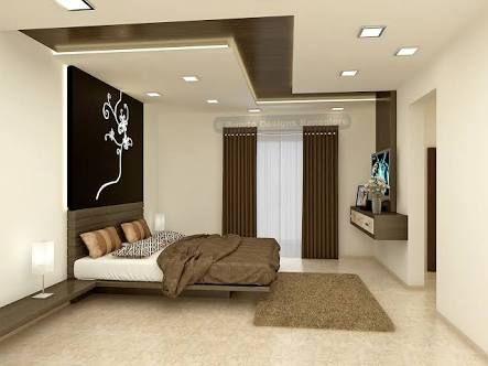 Image Result For Simple Easy Gypsum False Wall And Ceiling Designs For The Bedroom Design De Casa Teto De Gesso Interiores