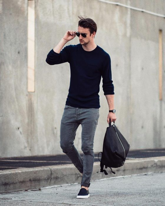 hombre de estilo casual sencillo
