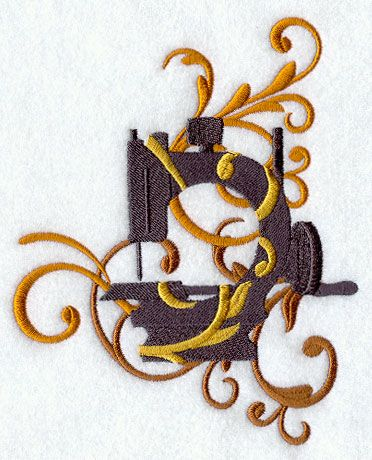 Filigree Sewing Machine 2 - D9987:
