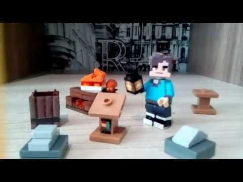 Lego Minecraft 1 14 Block Tutorial Lectern Lantern Barrel Campfire In 2020 Lego Minecraft Lego Minecraft