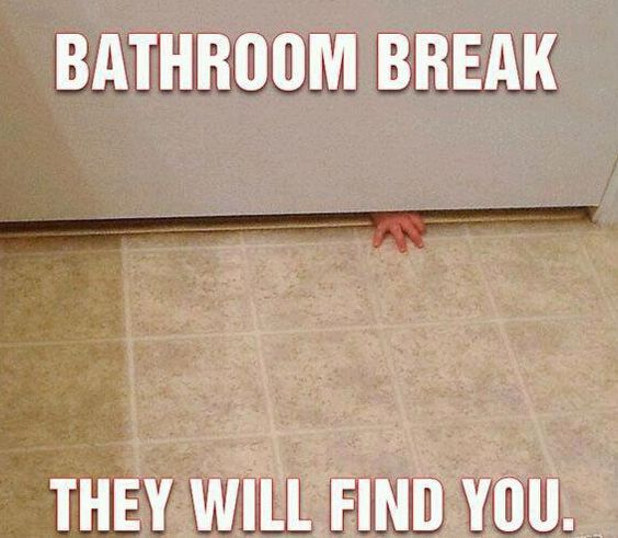 Augh!! Before I am ever ready to have kids, I WILL make sure to child-proof the bathroom.