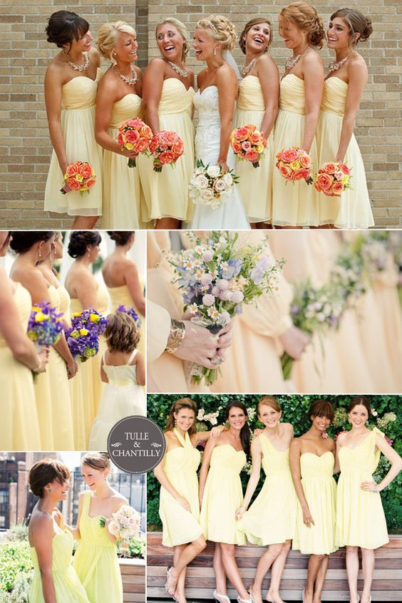 Top 10 Most Popular Colors for Bridesmaid Dresses from Tulleandchantilly