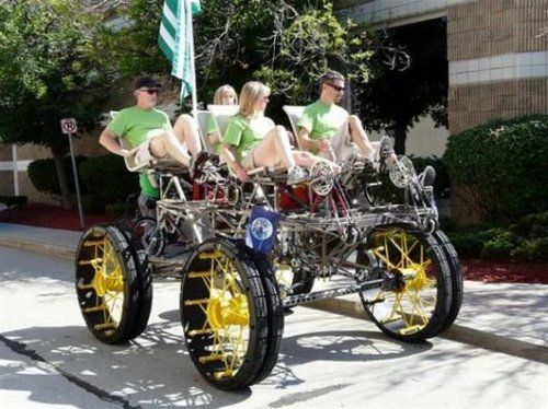 The Dogsled Quadcycle human powered vehicle