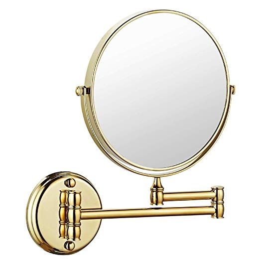 Makeup Mirror Wall Mount 8 Inch Dual Side With 1x 5x Magnification Bathroom Magnifying Mirror Two Side 360 Swivel Cosmetic Face Mirror Extendable Vanity Mirrors With Images Magnifying Mirror Mirror Wall Makeup Mirror