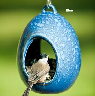 ceramic bird feeders: