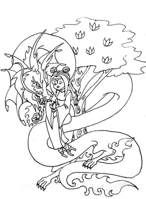 cherry blossom tree drawing cherry blossom coloring pages cherry blossom sarah eve kluegel scifi time for a little colour pinterest - Cherry Blossom Tree Coloring Pages