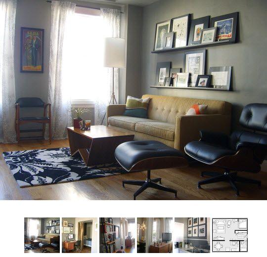 Shelves for frames