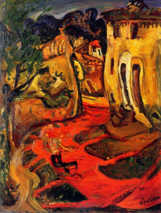 Street at Cagnes, 1924 / Chaim Soutine: