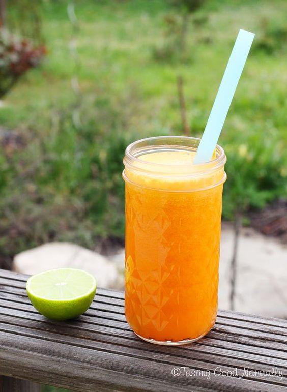Tasting Good Naturally : Jus de carottes, orange, citron vert et gingembre #vegan