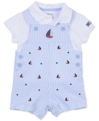 Little Me Baby Boys' 2-Piece Sailboat Shirt & Shortall Set