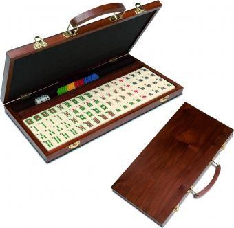 Productos y servicios - Productos - Juegos - Mah Jong en caja de madera de lujo - La Casa de la Educadora: juegos, rompecabezas y didácticos