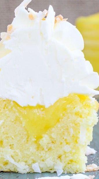Lemon Coconut Cupcakes (Italian Meringue Buttercream ...