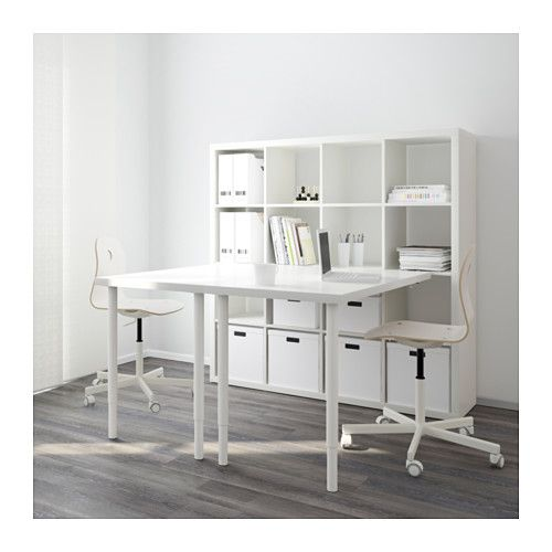 kallax combinaci n escritorio blanco verde basteltische b ros und tische. Black Bedroom Furniture Sets. Home Design Ideas