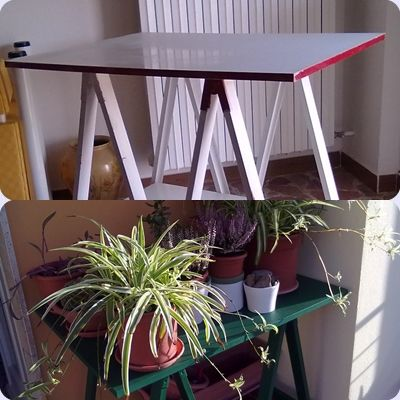 da scrivania a porta piante
