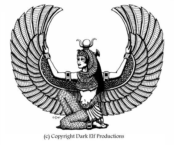 Isis Goddess Drawing - Google Search