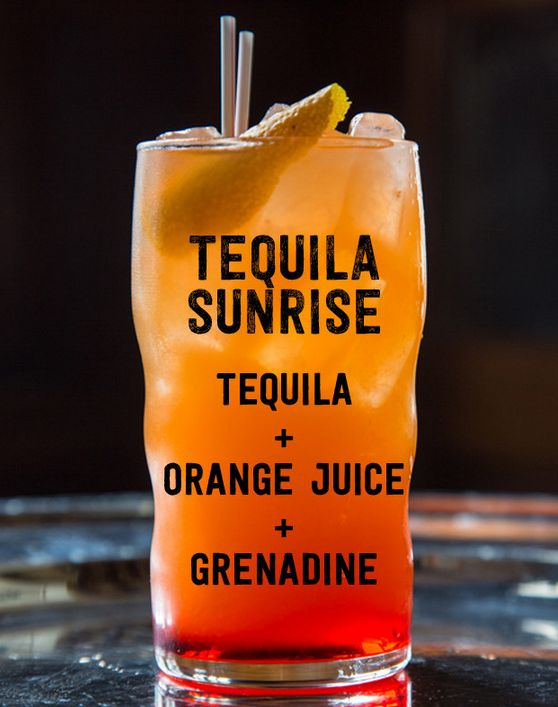 Tequila sunrise tequila and sunrises on pinterest for Best tequila for tequila sunrise