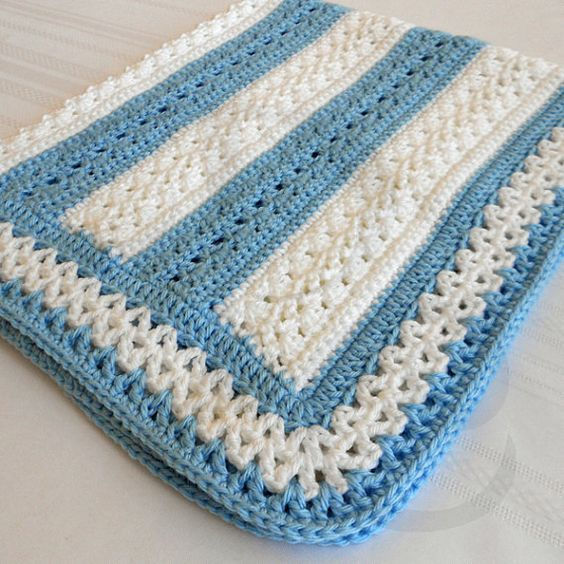 Crochet patrones fairfax beb patr n afgano babyghan - Manta de bebe a ganchillo ...