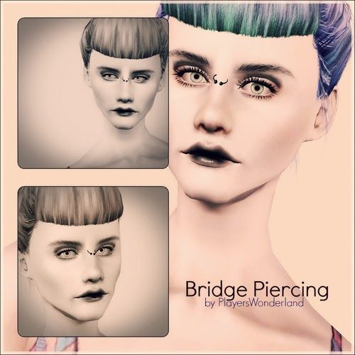 My Sims 3 Blog: Bridge Piercing by Playerswonderland | Sims 3 CC ...