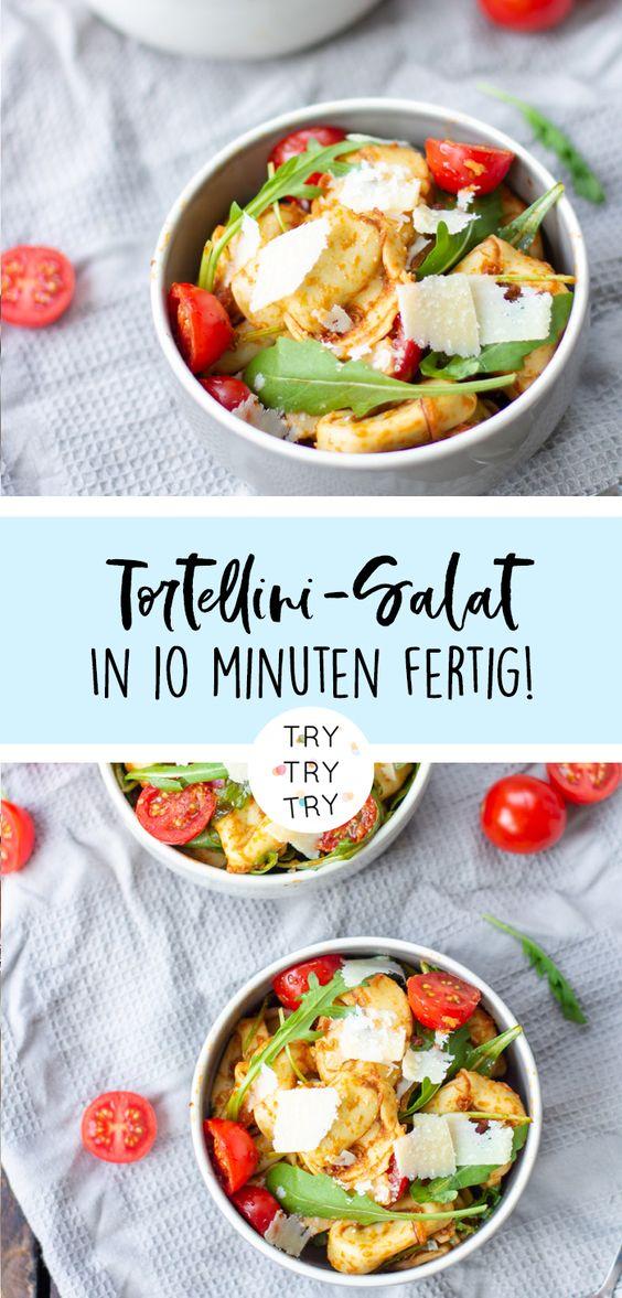 Italienischer Tortellini-Salat: In 10 Minuten fertig! Perfektes Rezept für Partys, Feiern oder für ein schnelles Essen