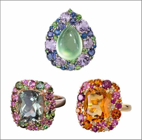 purple pink and green S 778 Amethyst