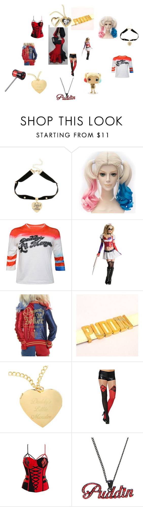 """""""Harley Quinn Nice ta meet cha'"""" by lissy0467 ❤ liked on Polyvore featuring Villain, Dccomics, harleyquinn, SuicideSquad and PUDDIN"""