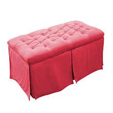 Magical Harmony Kids Tufted Toy Box - Minky Pink