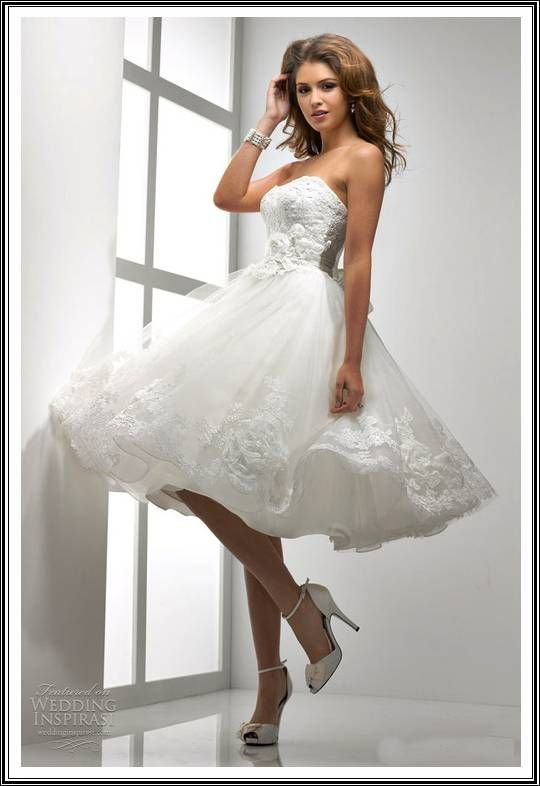 Short Wedding Dresses Designer - http://www.cutedressideas.com ...