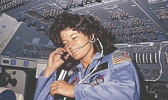 """dr. sally ride, a physicist, who in 1983 at the age of 32, flew on the shuttle challenger and became the youngest and first american woman in space. gloria steinem, editor of ms. magazine at the time, said, """"millions of little girls are going to sit by their television sets and see they can be astronauts, heroes, explorers, and scientists."""" • she inspired us to reach for the stars, literally. . . ride sally ride . . . rest in peace: Literally Ride, Dr Ride, Ride 1983, Ride Trailblazing"""