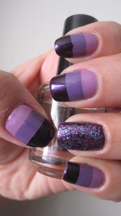 shades of purple nails
