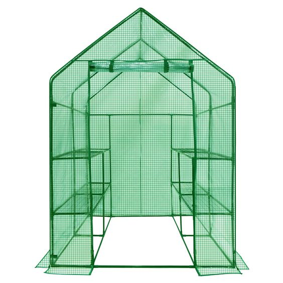 Ogrow Deluxe Walk-in 2-tier 8-shelf Portable Lawn and Garden Greenhouse - Overstock™ Shopping - Big Discounts on Ogrow Greenhouses