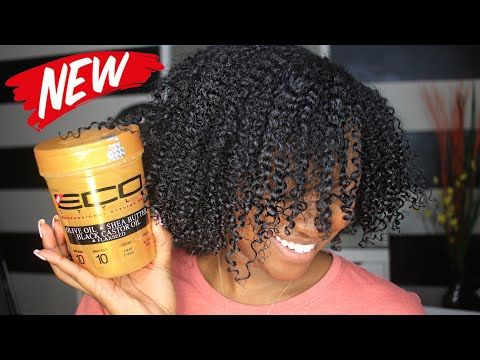 New Eco Styler Gold Gel Olive Oil Shea Butter Black Castor Flaxseed Youtube Shea Butter Hair Eco Hair Natural Skin Hair