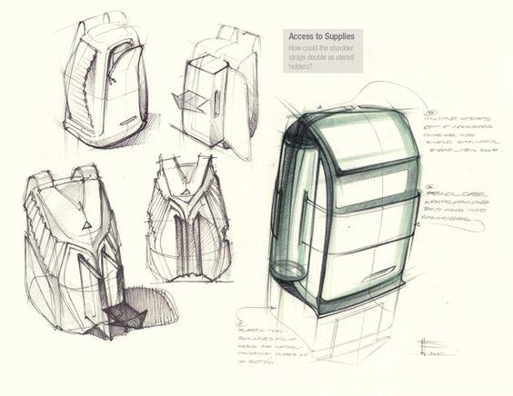 Studio Backpack by Ben Adams-Keane, via Behance #id #industrial #design #product #sketch
