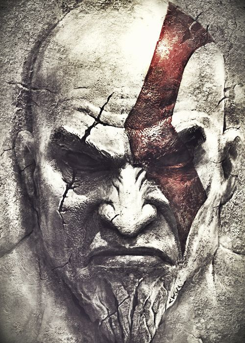 Get Kratos Face Drawing Background