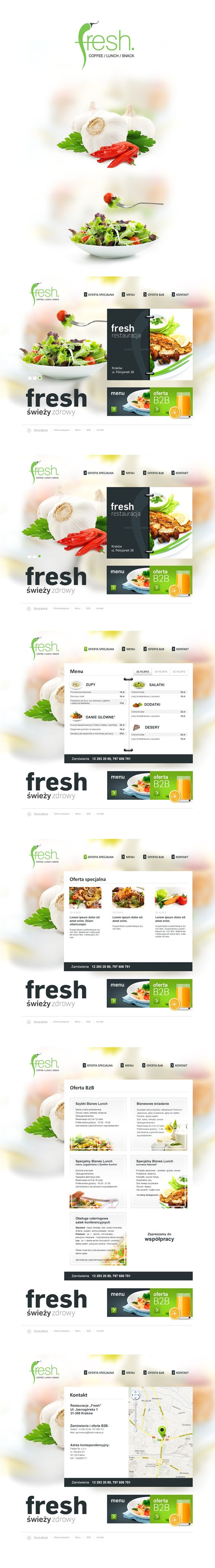 fresh by bart omiej g boli via behance nice design of a menu off fresh by bart322omiej g281boli347 via behance nice design of a menu off a website