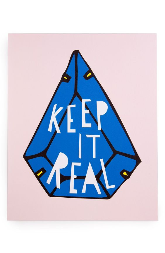 Keeping it real with this ultra-cool and vibrant print art that's sure to liven up any living décor.