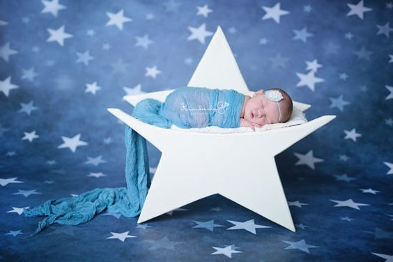 Newborn wooden star prop by LilaPhotographyProps on Etsy, $125.00