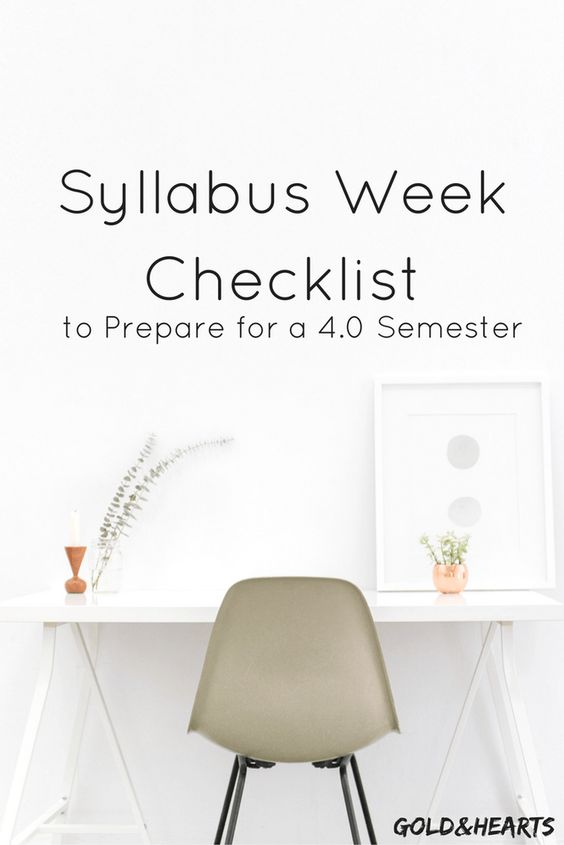 What to do during syllabus to get a 4.0 this semester | gold&hearts