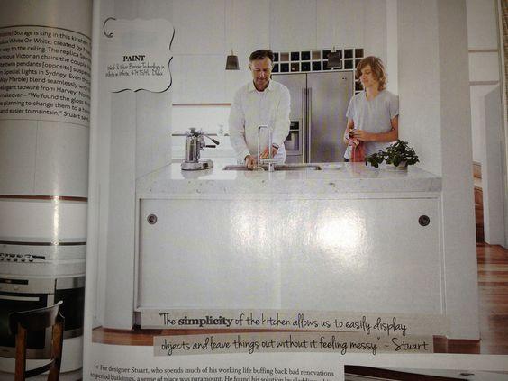 White sliding doors for kitchen