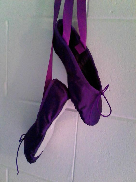 GrandGear Purple Satin with full soles and ribbons