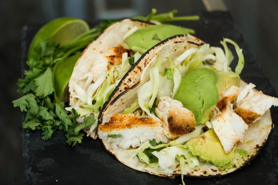 Another summertime favorite! These Fish Tacos, filled with seared Halibut, are a delicious way to entertain while keeping the evening Diabetes-friendly. #Diabetes