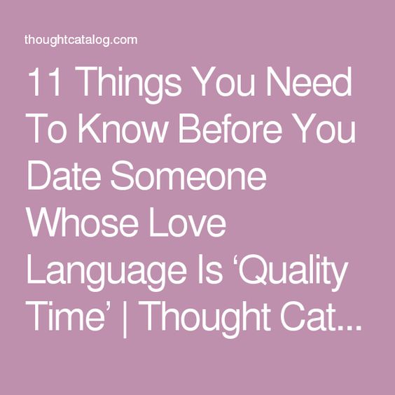 Things to know before dating someone