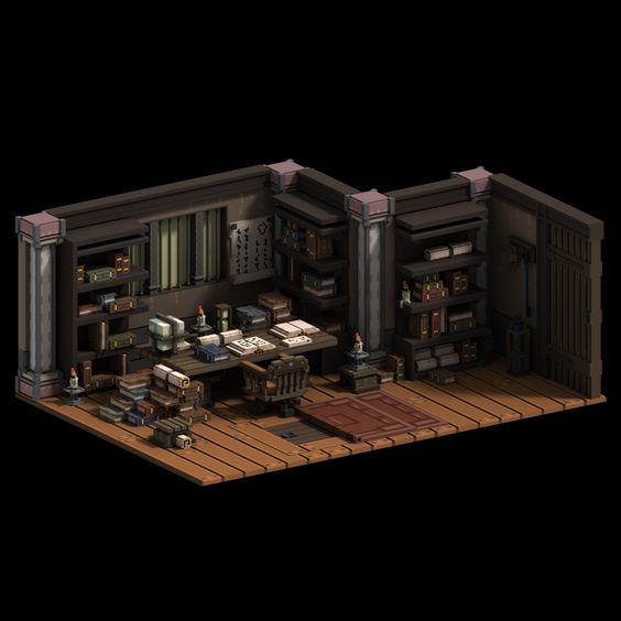 ArtStation - Old man's Study, zachary soares