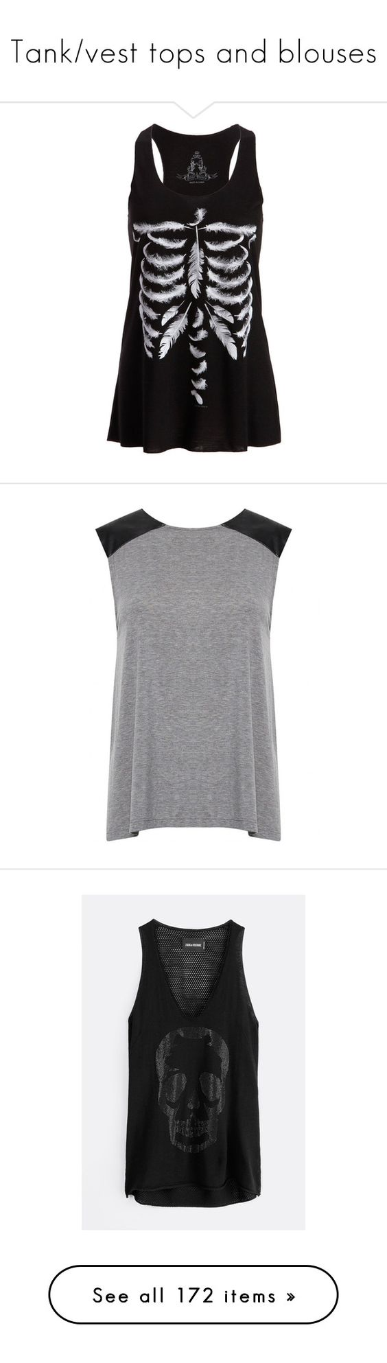 """""""Tank/vest tops and blouses"""" by musicmelody1 on Polyvore featuring tops, shirts, tank tops, tanks, cotton tank tops, urban shirts, sleeveless tank, sleeve shirt, sleeve less shirts and black"""
