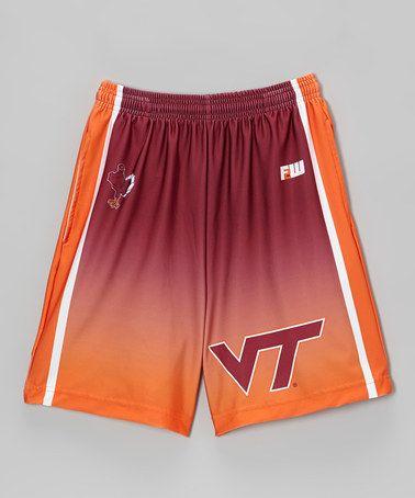 Red & Orange Virginia Tech Shorts by Fit 2 Win Sportswear on #zulily