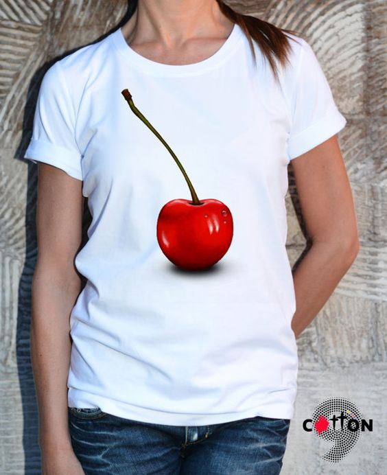 Cherries T-shirt / Sweet as Cherry / Oversize Dress / by Cotton9