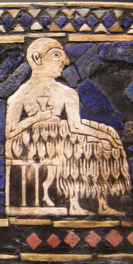 The Sumerian king on the Standard of Ur