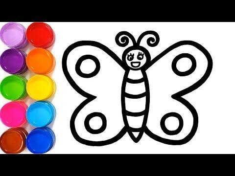 Cara Menggambar Dan Mewarnai Kupu Kupu Untuk Anak Youtube Cara